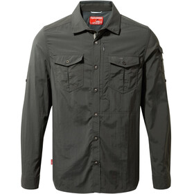 Craghoppers M's NosiLife Adventure LS Shirt Black Pepper